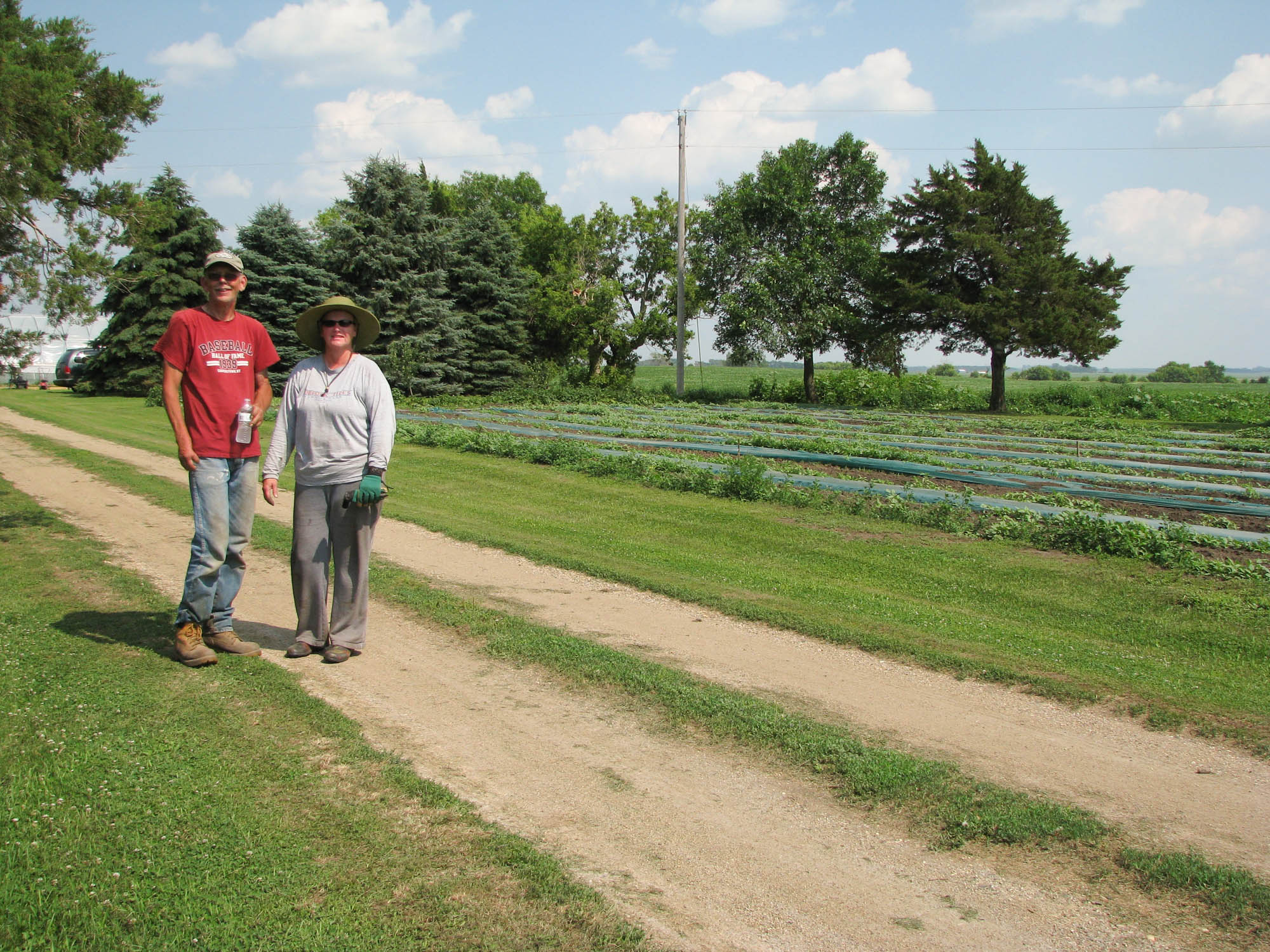 Lee and Mary Storo on their CSA farm between Beresford and Sioux Falls